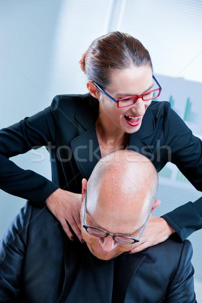business woman relishing his sadism Stock photo © Giulio_Fornasar
