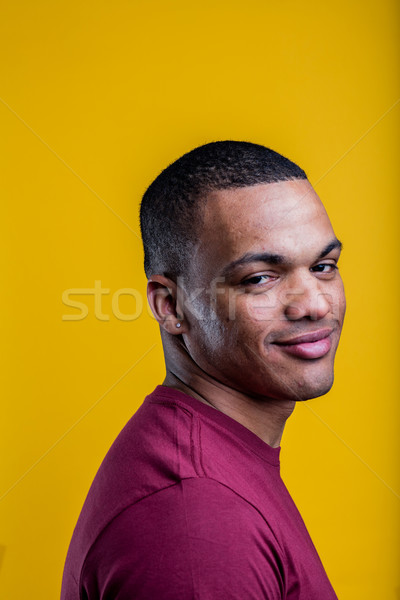 portrait of skeptical afro-american man Stock photo © Giulio_Fornasar
