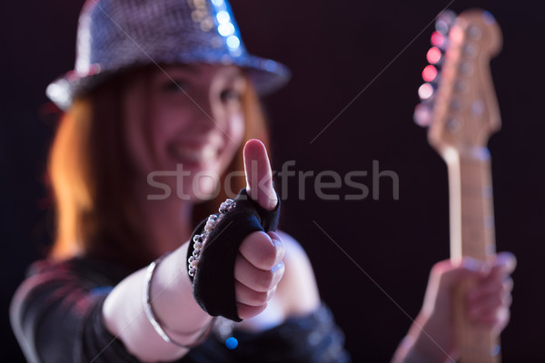 thumbs up for pop music live Stock photo © Giulio_Fornasar