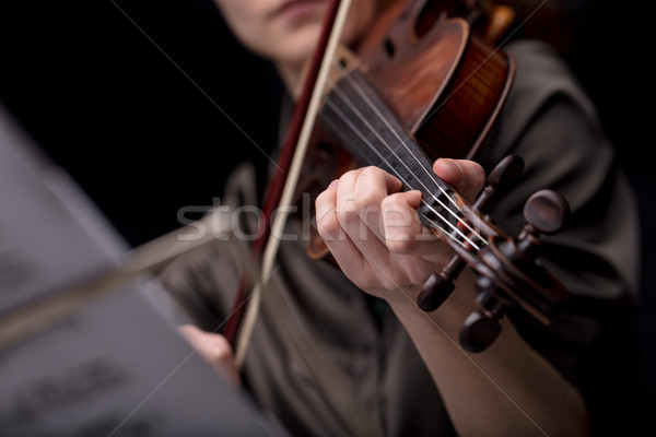classical music player over a dark background Stock photo © Giulio_Fornasar