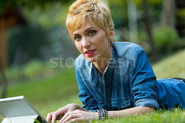 time off surfing on the grass Stock photo © Giulio_Fornasar