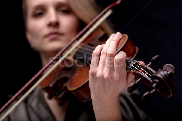 hand of a baroque violinist Stock photo © Giulio_Fornasar