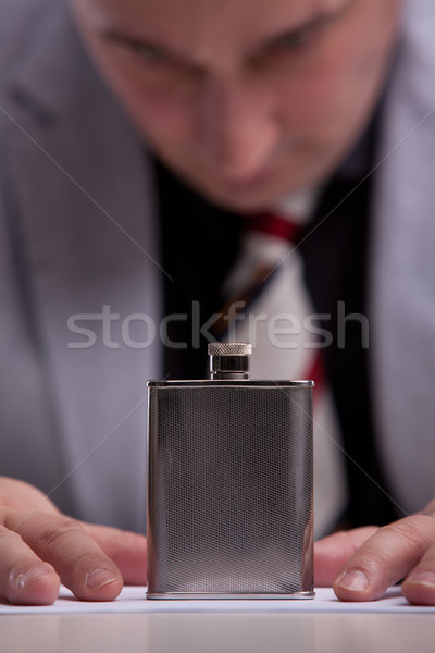 alcohol fixation in a flask of alcohol Stock photo © Giulio_Fornasar