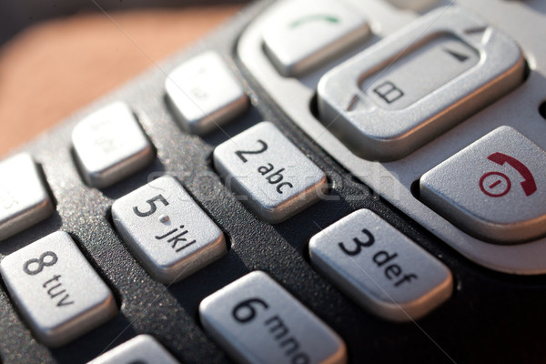 closeup of a telephone keypad in direct sunlight Stock photo © Giulio_Fornasar