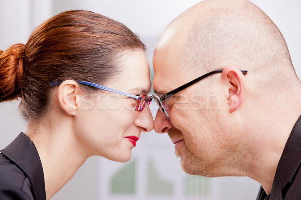 Сток-фото: женщину · человека · хорошие · бизнес-команды · деловой · женщины · деловой · человек