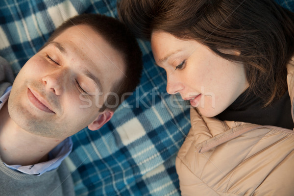 young couple relaxed and pensive Stock photo © Giulio_Fornasar