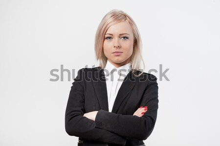 crossed arms self confident woman Stock photo © Giulio_Fornasar