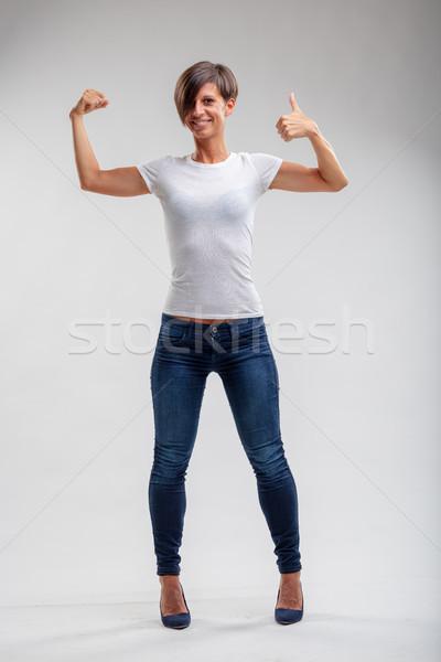 フィット 健康 筋肉の 女性 若い女性 ストックフォト © Giulio_Fornasar