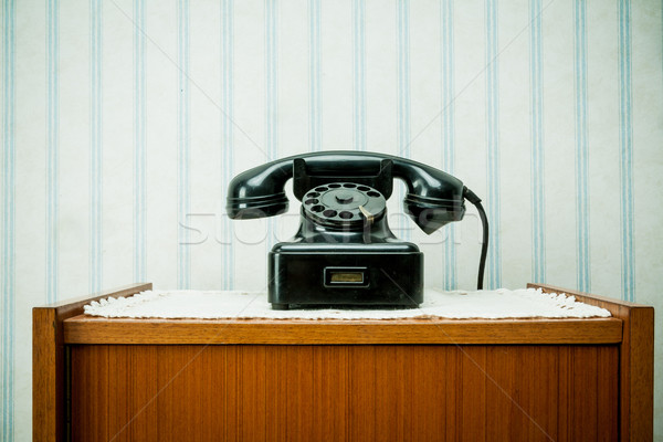 old-style image of a vintage telephone Stock photo © Giulio_Fornasar