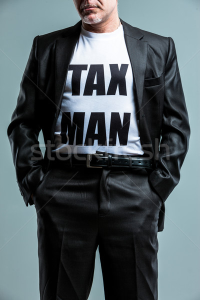 Stern man wearing a Tax Man t-shirt Stock photo © Giulio_Fornasar