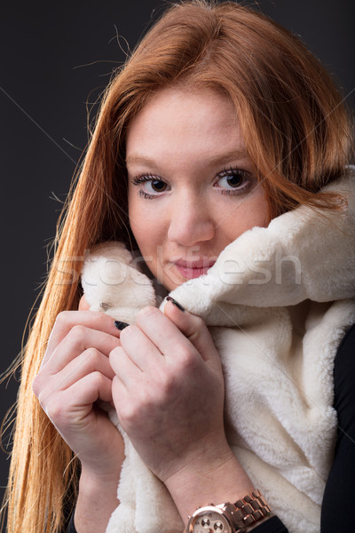 woman defending herself from cold Stock photo © Giulio_Fornasar