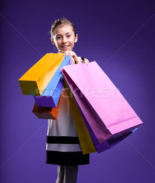 little girl shopping happily Stock photo © Giulio_Fornasar