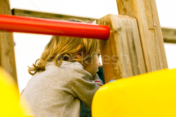 hidden girl looking forward to play Stock photo © Giulio_Fornasar