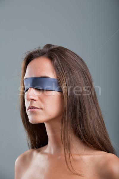 girl with black blind fold Stock photo © Giulio_Fornasar