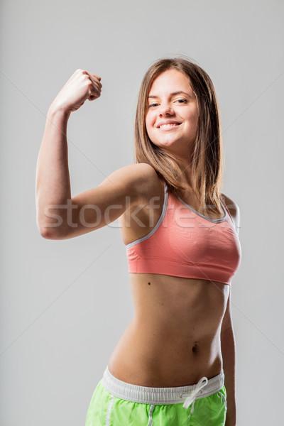 нет описание осуществлять женщины тренировки сильный Сток-фото © Giulio_Fornasar