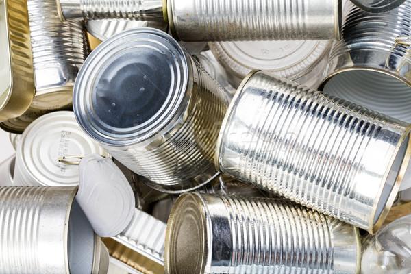 группа чистой используемый олово можете мусор Сток-фото © Giulio_Fornasar