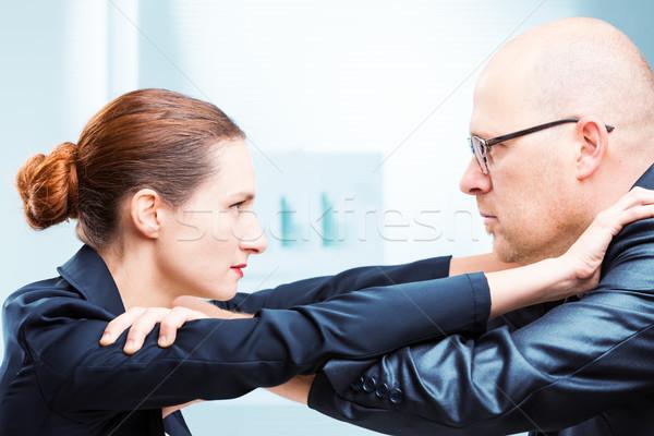 Hombre vs mujer oficina empresario Foto stock © Giulio_Fornasar