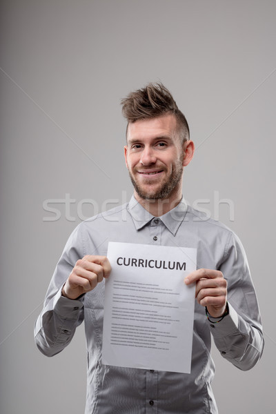 Smiling happy confident man applying for a job Stock photo © Giulio_Fornasar