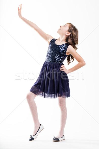 girl playing top fashion model Stock photo © Giulio_Fornasar