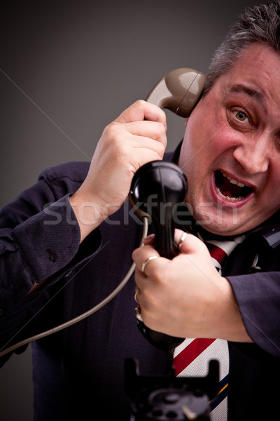 I can't handle telephone calls! Stock photo © Giulio_Fornasar