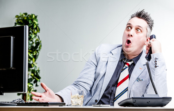 funny character of shocked businessman Stock photo © Giulio_Fornasar