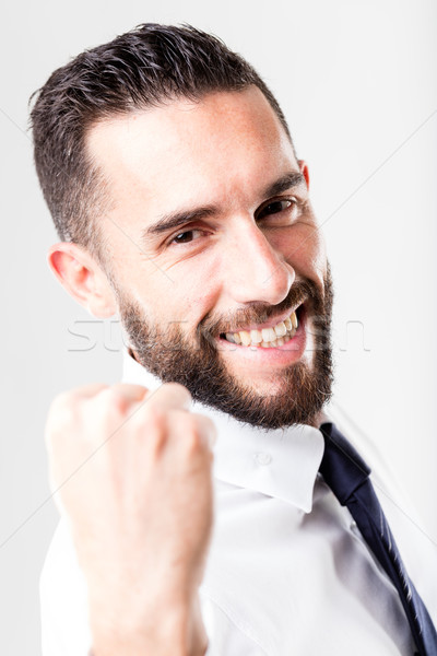 successful smiling businessman with beard Stock photo © Giulio_Fornasar