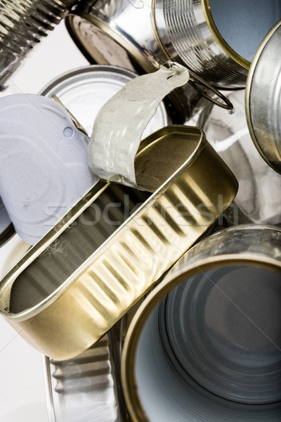 sardine aluminium used box among trash Stock photo © Giulio_Fornasar