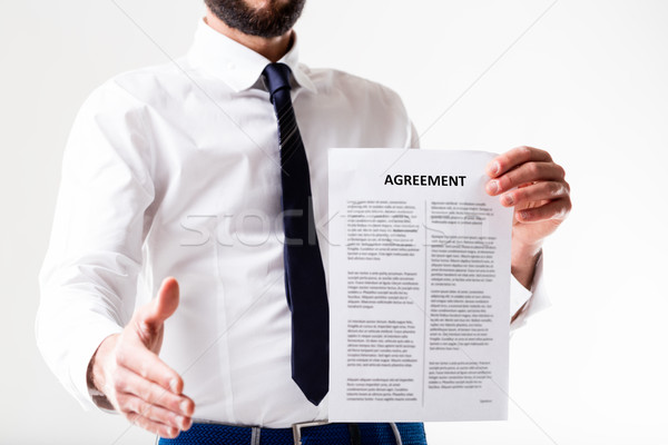good agreement is going to be signed Stock photo © Giulio_Fornasar