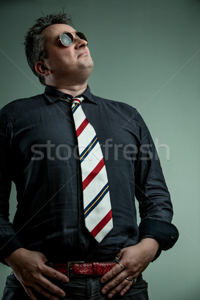 self-important man feeling ready to command Stock photo © Giulio_Fornasar