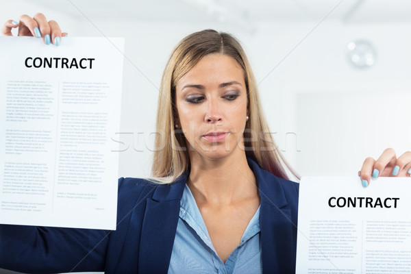 woman about to choose a contract Stock photo © Giulio_Fornasar