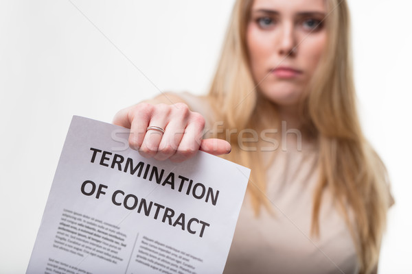employment termiantion concept, boss sacking you Stock photo © Giulio_Fornasar