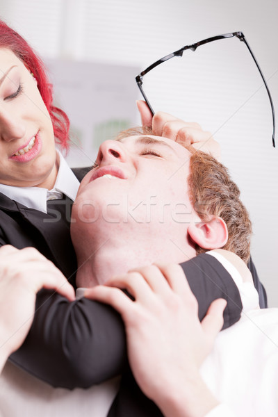 man VS woman annoyances on workplace Stock photo © Giulio_Fornasar