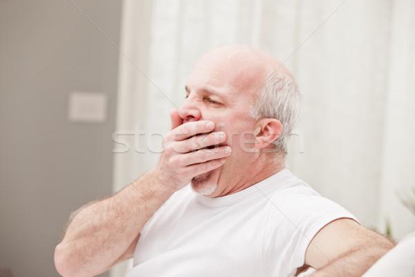 man yawning and going asleep Stock photo © Giulio_Fornasar