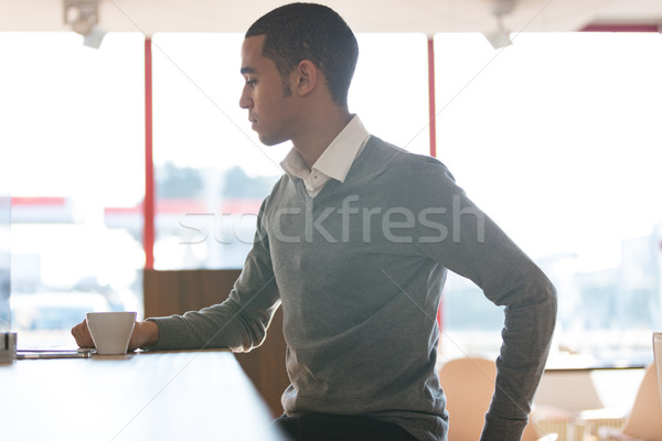 Businessman during coffee break in office Stock photo © Giulio_Fornasar