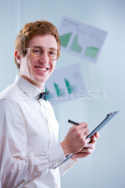 Foto stock: Contabilidad · funny · números · siempre · contador · gafas