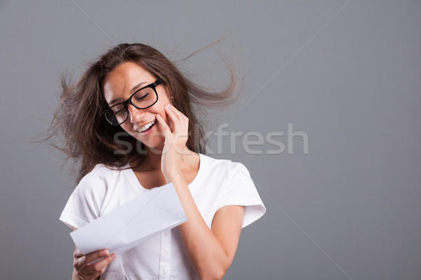 wave of love coming with a letter Stock photo © Giulio_Fornasar