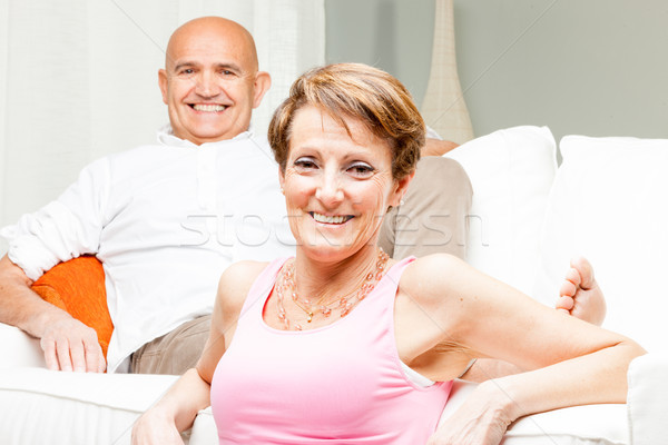Attractive happy confident middle-aged couple Stock photo © Giulio_Fornasar