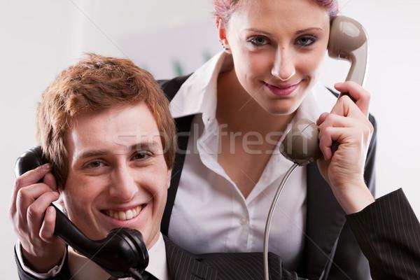 Pracowników biurowych call center telefony uśmiechnięty biuro usługi Zdjęcia stock © Giulio_Fornasar
