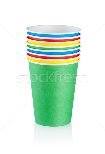 Stack of disposable cups Stock photo © Givaga