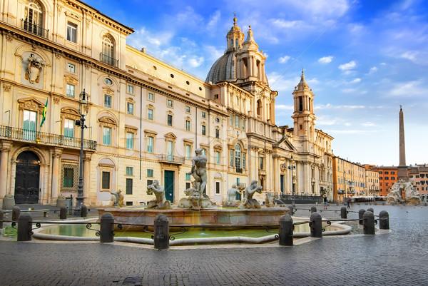 Pałac fontanna Rzym Włochy niebo wody Zdjęcia stock © Givaga
