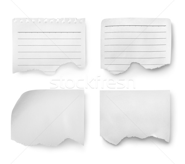 Collage of paper sheets Stock photo © Givaga