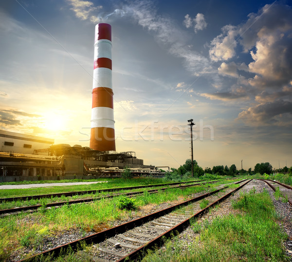 Railroad and tube Stock photo © Givaga