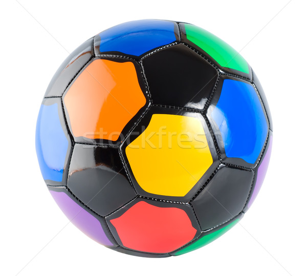 Soccer ball multicolore isolato bianco Foto d'archivio © Givaga