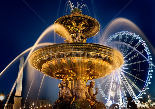 Fountain on square of Concorde Stock photo © Givaga