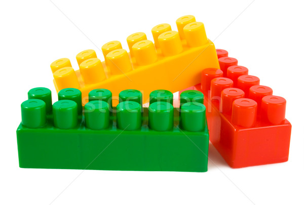 Stack of colorful building blocks Stock photo © Givaga