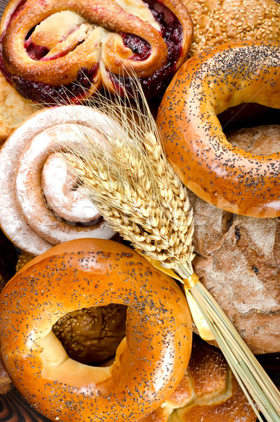 Assortment of bakery fresh breads Stock photo © Givaga