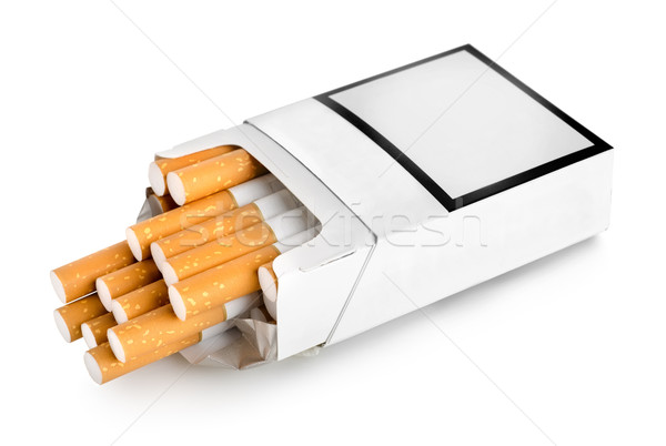Open pack of cigarettes Stock photo © Givaga