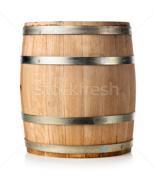 Wooden barrel isolated Stock photo © Givaga