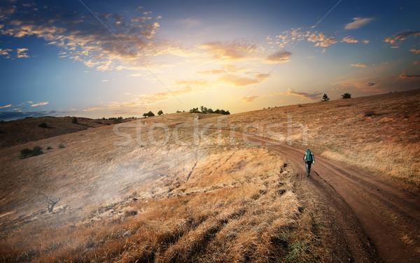 Hiking to the mountains Stock photo © Givaga