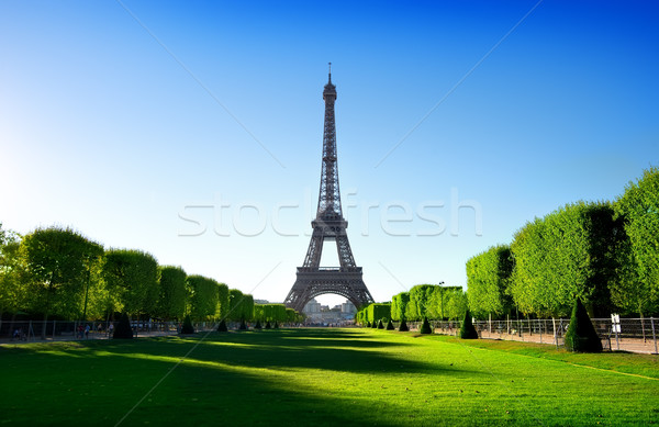 Eiffel Tower and Champ de Mars Stock photo © Givaga
